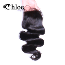 Chloe Brazilian Hair Body Wave 4×4 Remy Human Hair Lace Closure Free Part Bleached Knots With Baby Hair