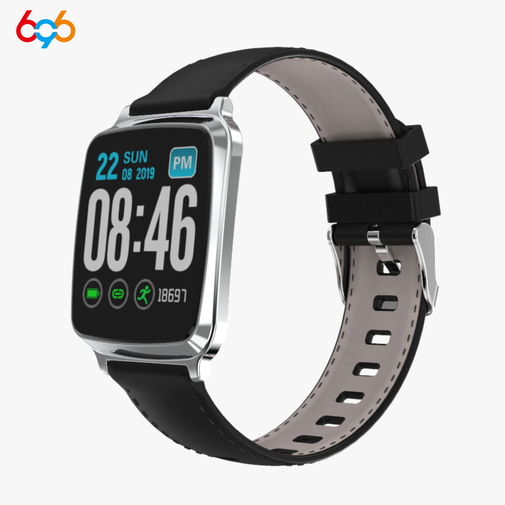 696M8-S sports smart bracelet 1.4 IPS color LCD touch screen waterproof watch heart rate and blood pressure monitoring wristband
