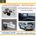 """For Toyota Harrier / Lexus RX 300 RX300 -  In Car 4.3"""" Color LCD Monitor + Car Rear Back Up Camera = 2 in 1 Park Parking System"""