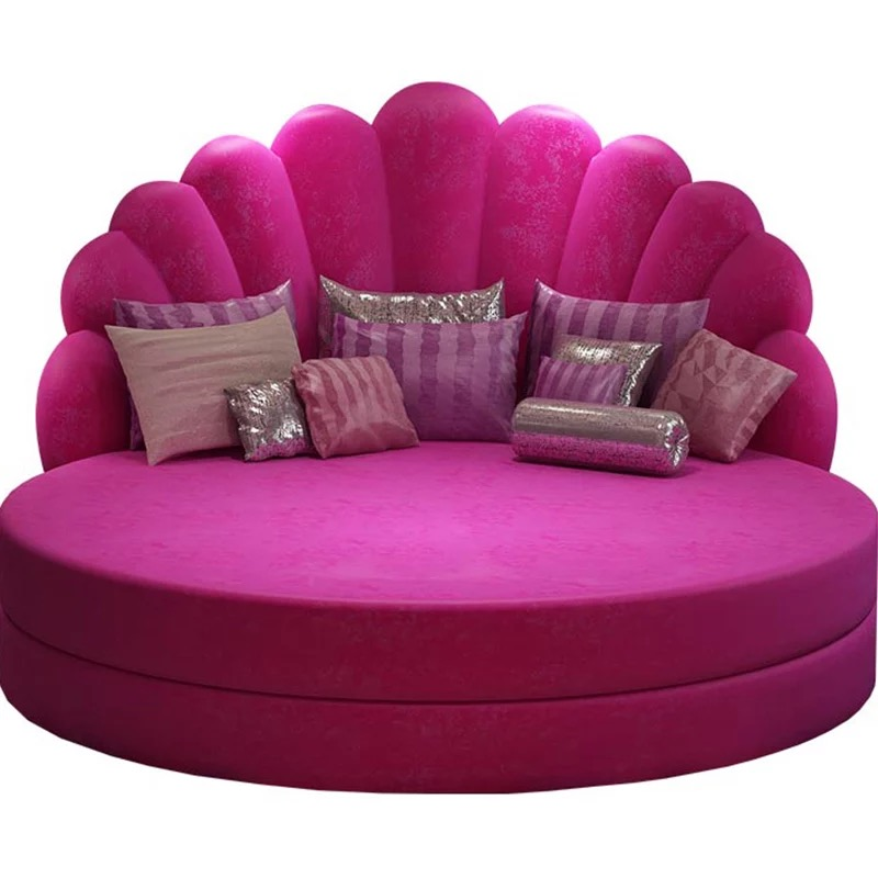 Hot Sale Round Wedding Leather Bed In Different Color For Home Or For Hotel