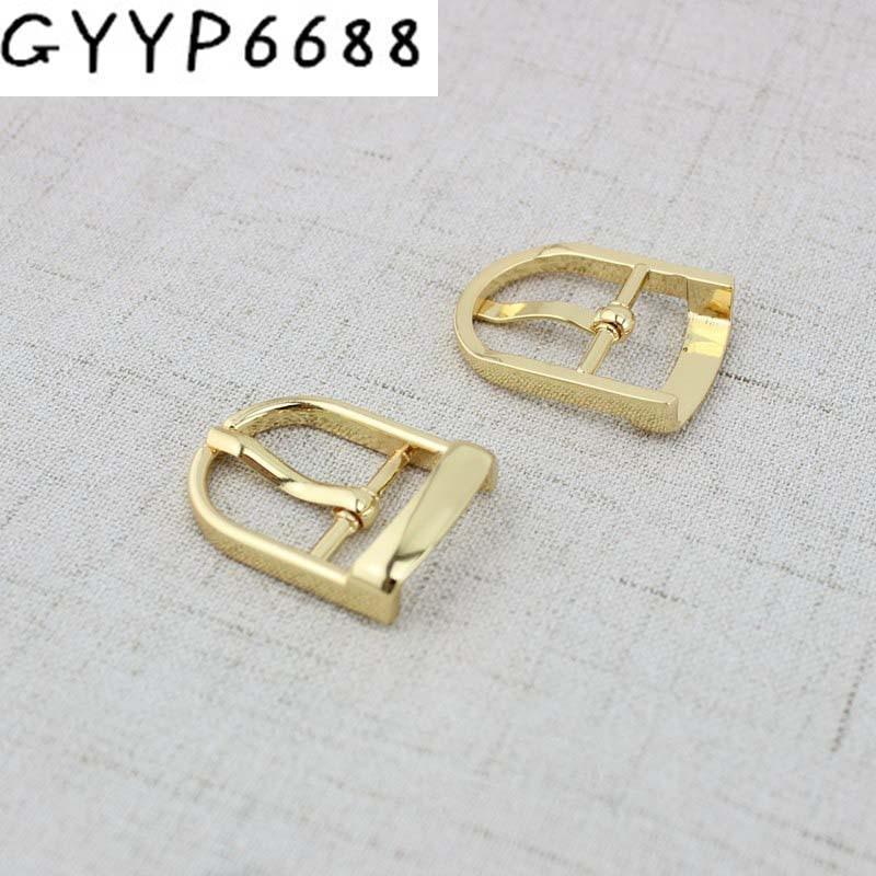 4pcs 200pcs 20mm Adjusting Squared Pin Buckle Brass Metal Belt Buckle For DIY Dog Collars Bags Purse Belt Accessories