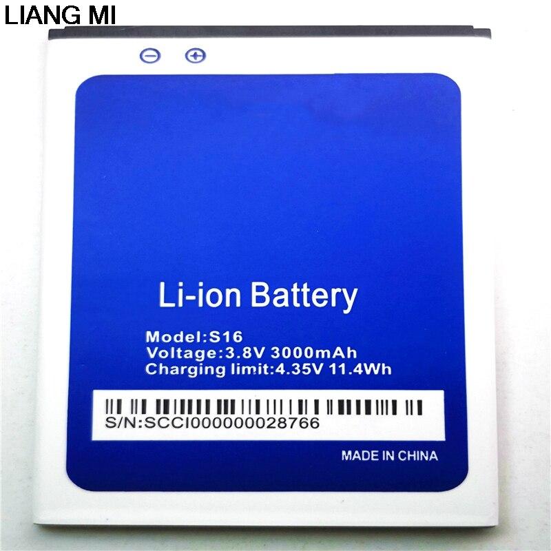 100% Original S16 Batterie 3000 mah Ersatz 5,5 zoll HOMTOM S16 Handy Batterie mit telefon stander für geschenk