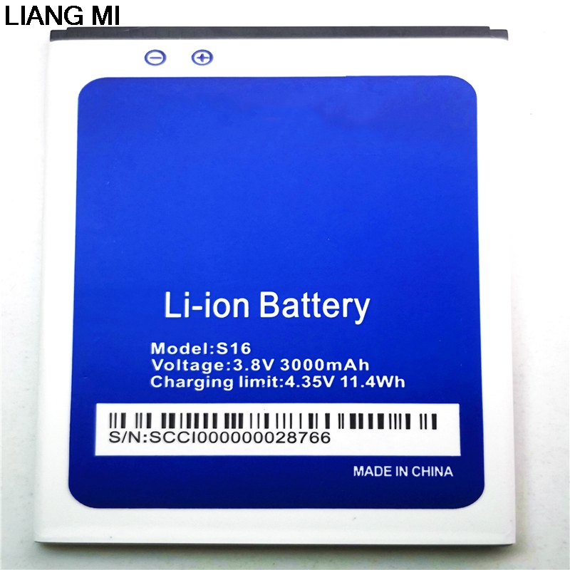 100% Original <font><b>S16</b></font> <font><b>Battery</b></font> 3000mAh Replacement 5.5inch <font><b>HOMTOM</b></font> <font><b>S16</b></font> Mobile Phone <font><b>Battery</b></font> with phone stander for gift image