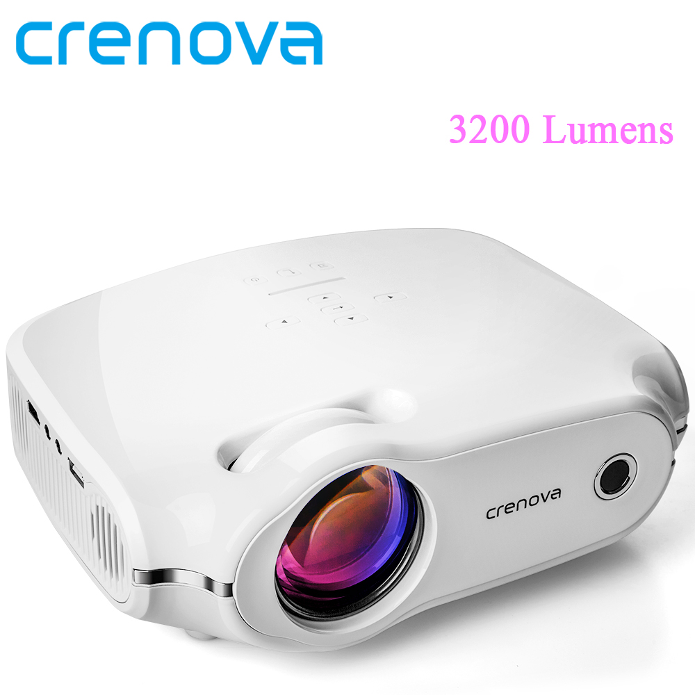 CRENOVA High Quality LCD Projector For Home Theater System Movie Video Projector With Android 7 1