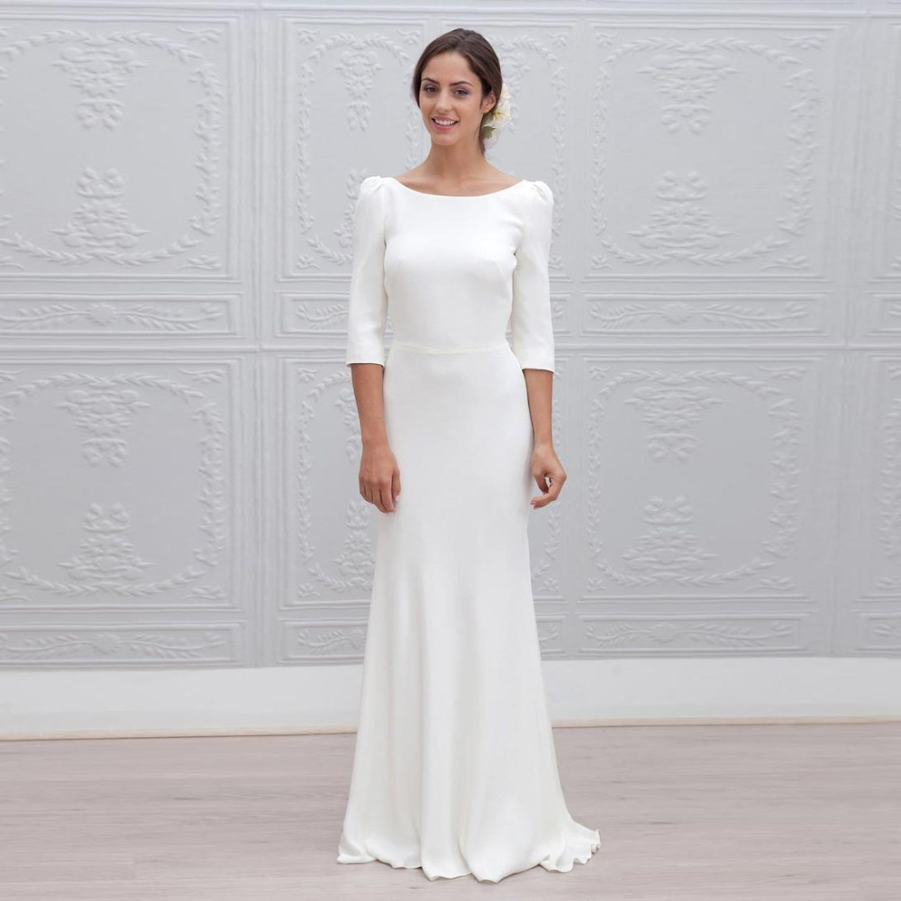 Long Sleeve Long White Dresses