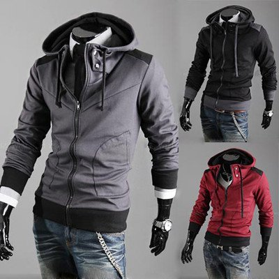 Stylish New Mens Boys Stylish Slim Zipper Hoodies Jackets Coats ...