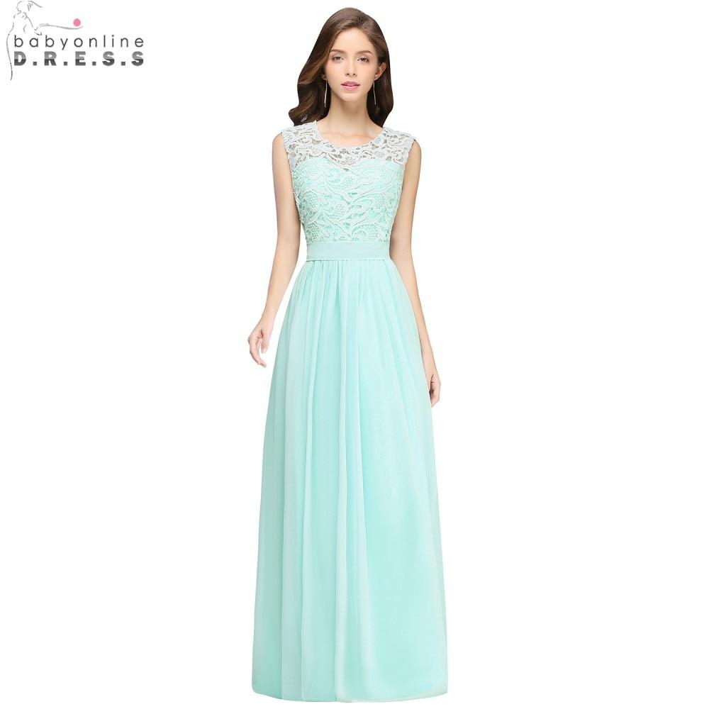 9aea422620 Babyonline New Arrival Lace Chiffon Evening Dresses Long 2018 Burgundy Mint Formal  Party Dresses Sleeveless Vestido De Festa