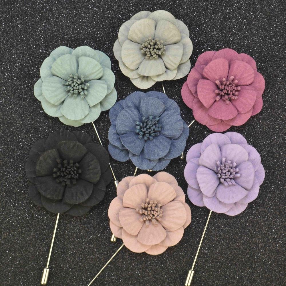 Mens jacket brooch - Wholesale Fashion Men Lapel Flower Pin Brooches For Men Suit Wedding Solid Brooch Jacket Lapel Pin