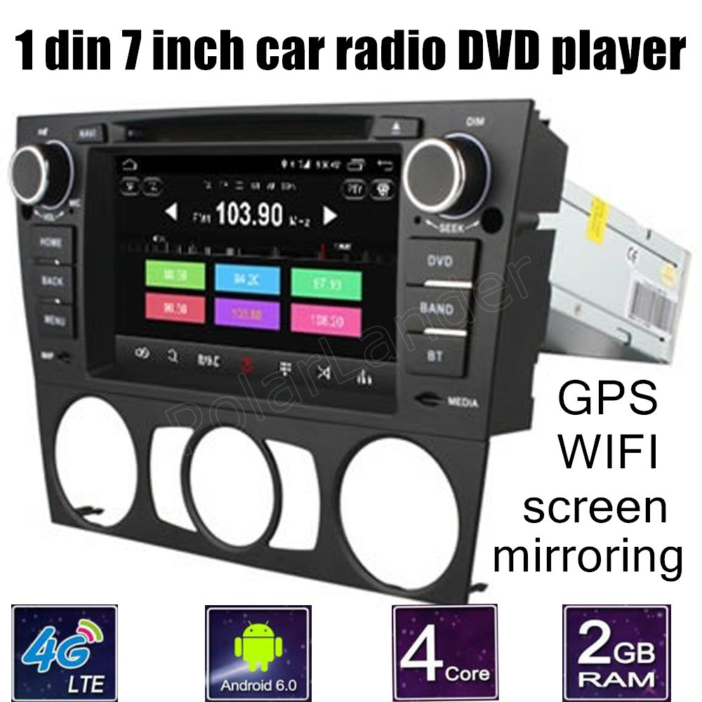 <font><b>7</b></font> inch Car DVD Player Android 6.0 GPS Navigation For B/MW <font><b>3</b></font> Series E90 E91 E92 E93 WiFi 4G SIM LTE RDS Quad Core 1 DIN image