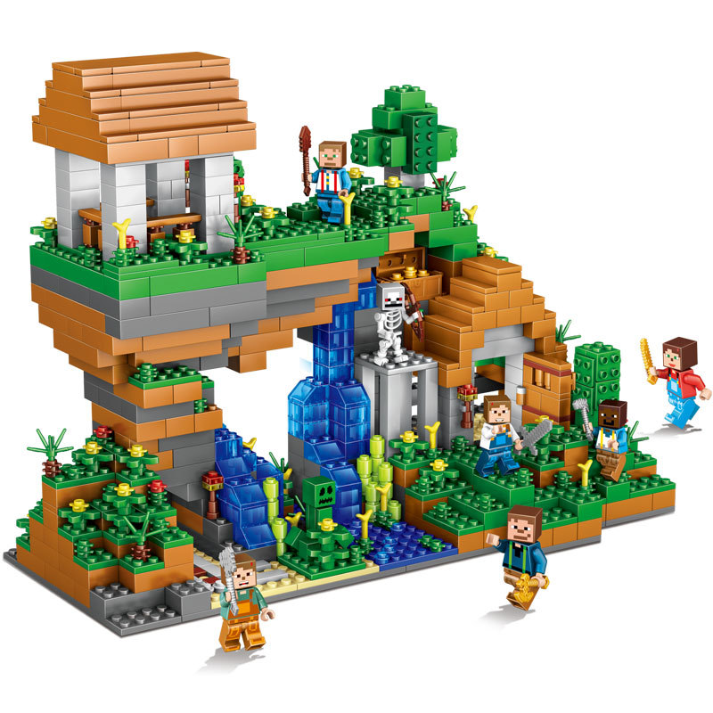 957pcs Children s building blocks toy Compatible city minecrafted Square World Yosemite Falls figures Bricks best