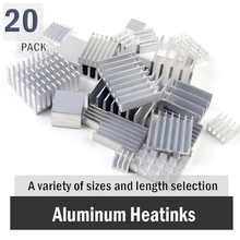 все цены на  Aluminum MOS Mini IC Chipset Cooling Cooler Heat Sink Heatsink 20PCS онлайн