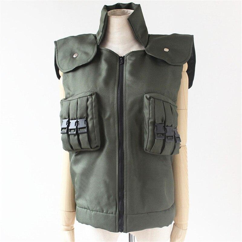 Hot Japanese Anime NARUTO Cosplay Costumes Hatake Kakashi Green Unisex green Vest Garment D 018 55