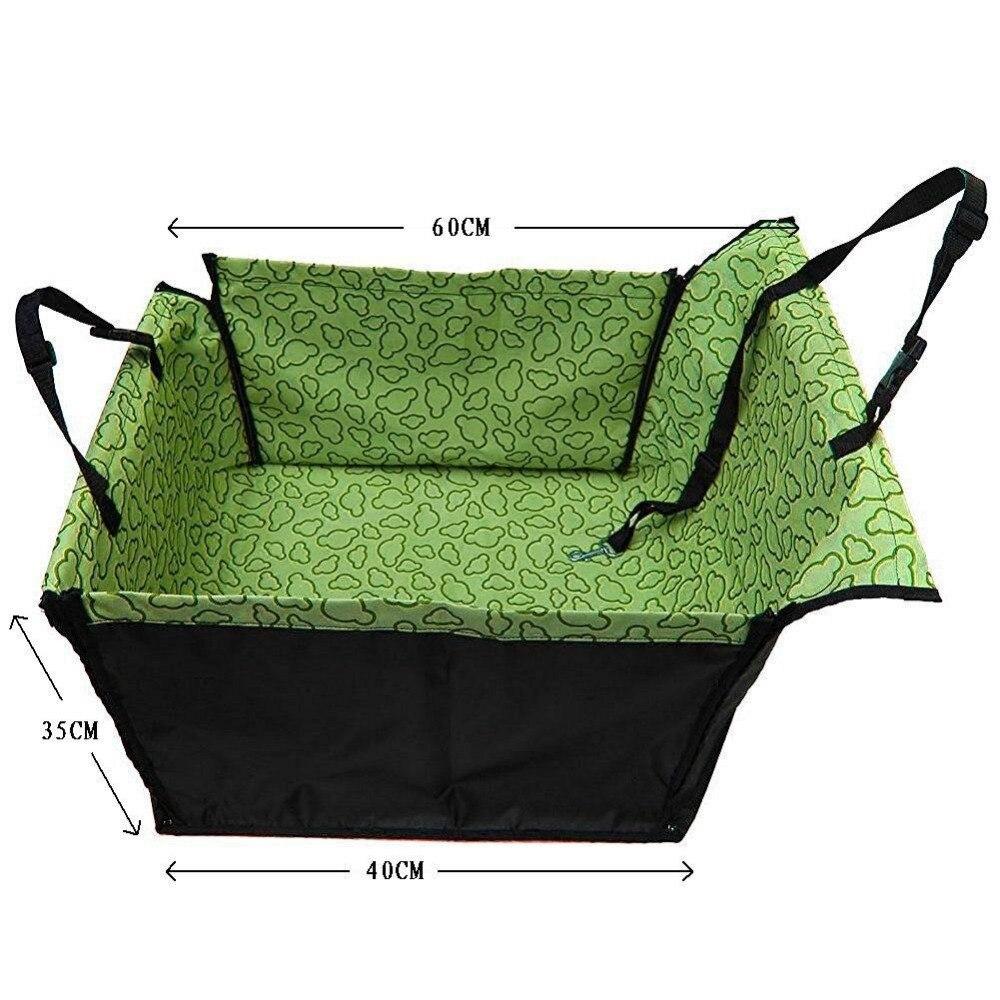 CAWAYI KENNEL PVC Waterproof Small Pet Dog Cat Car Seat Cover Mat Blanket Rear Back Dog Car Seat Protection Hammock D0041 5