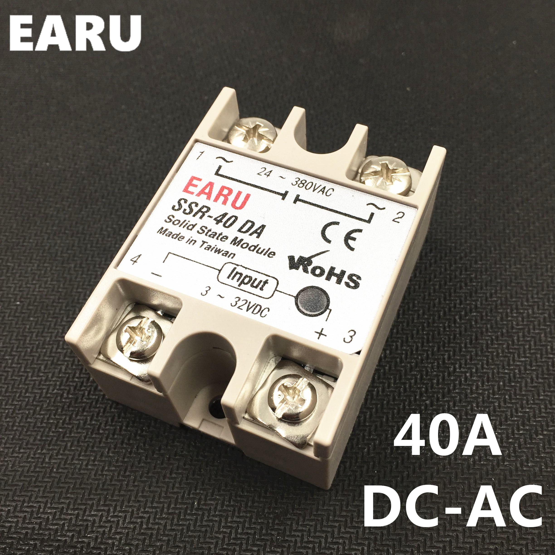 Solid State Relay Module SSR-10DA SSR-25DA SSR-40DA 10A 25A 40A 3-32V DC TO 24-380V AC SSR 10DA 25DA 40DA Temperature Controller solid state relay ssr 25da 25a 5 24v dc to 24 380v ac ssr 250a 6 20ma