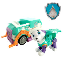 Paw patrol dog toy car puppy pull back cartoon character Everest anime patrulha canina action figure model pat patrouille everest paw children birthday gift Christmas
