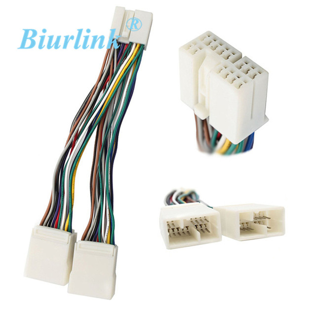 biurlink car stereo harness y cable adaptor splitter for honda aux cd  changer / navigation / xm 5pcs/lot