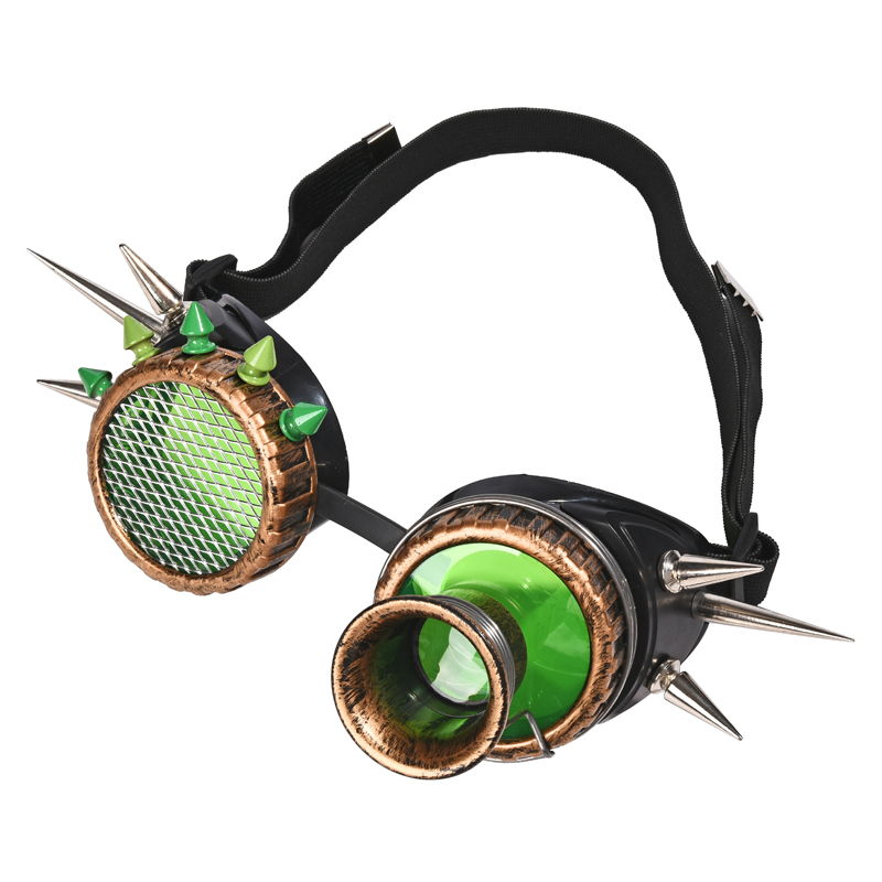 Cosplay Vintage Victorian Rivet Steampunk Goggles Glasses Welding Cyber Gothic Goggle Party Eyewear(China)