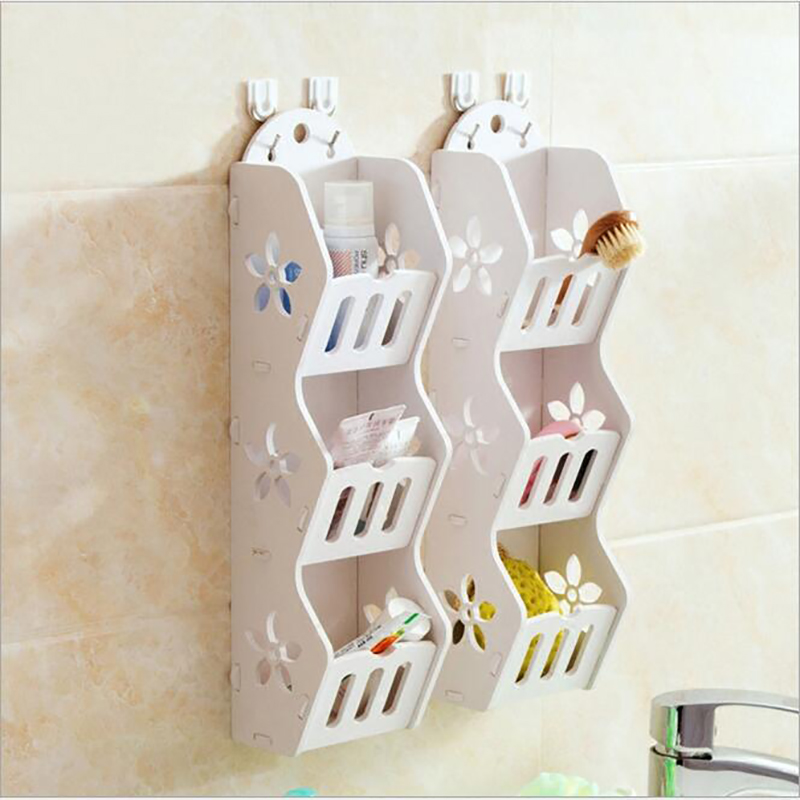 2pcs High quality multi layer wall hanging bathroom supplies shelf storage shelf toilet rack