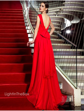 free shipping salomon robe de soiree vestido noiva 2014 new hot sexy backless chiffon red bow long Formal evening Dresses