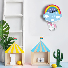 Rainbow Unicorn Pendulum Wall Clock