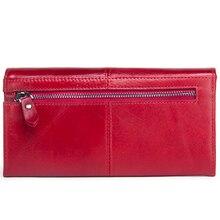 Red women wallet credit card holder
