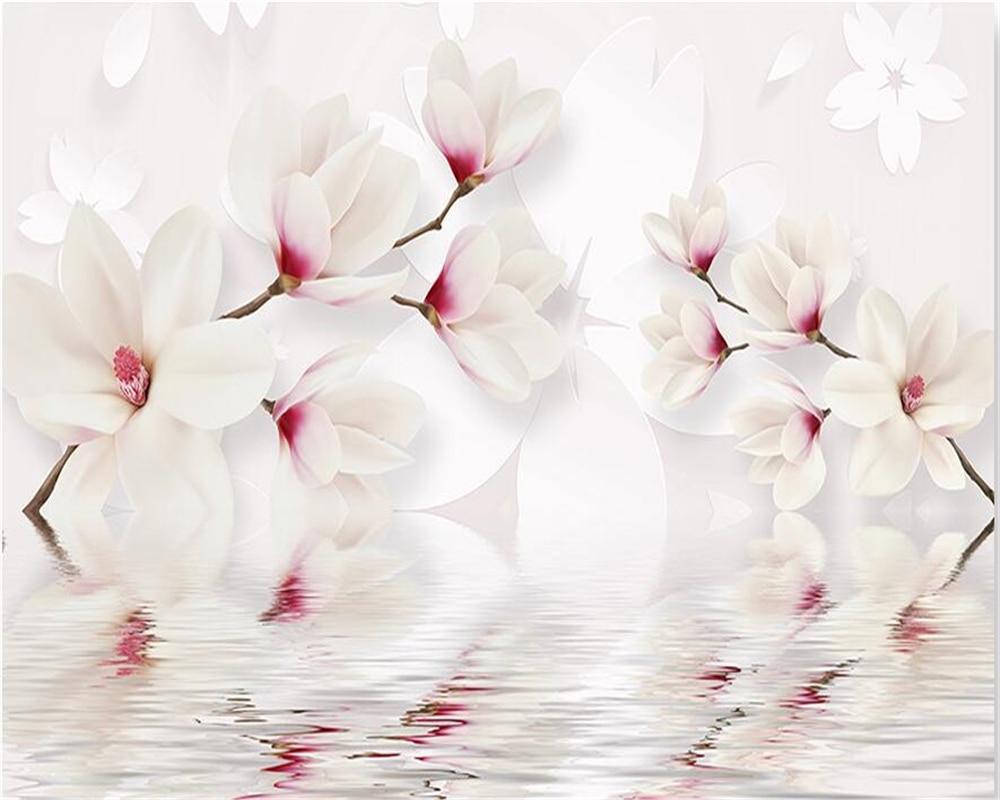 Aliexpress Buy Beibehang Custom Wall Murals Wallpaper White