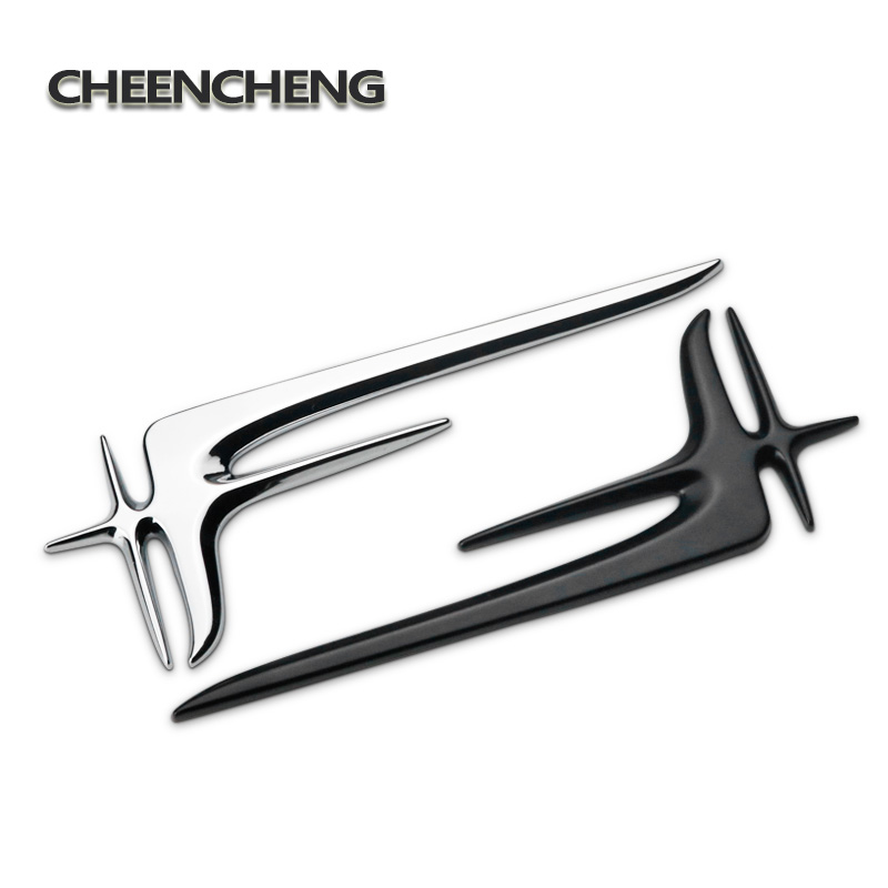 2 pcs 3D Car Sticker Emblem Badge for Universal Car Moto Bike Decorative Accessories ornament decal interior styling moulding-in Car Stickers from Automobiles & Motorcycles