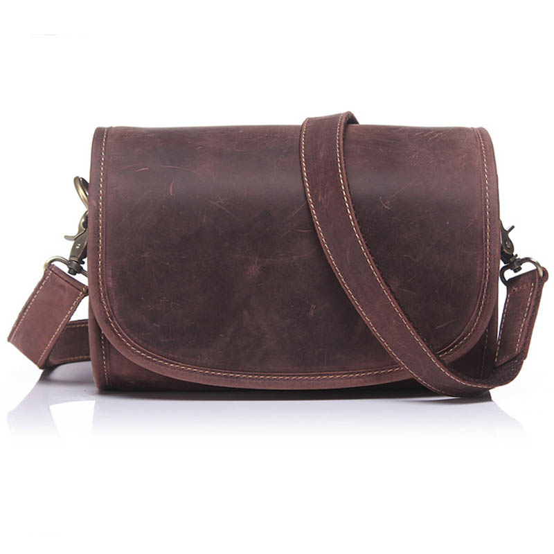 AUGUR New Arrived Crazy Horse Leather Casual Messenger Bags Men Shoulder Sling Bag Trendy Male Crossbody Bags Small Bags 204# aerlis brand men handbag canvas pu leather satchel messenger sling bag versatile male casual crossbody shoulder school bags 4390