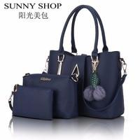 SUNNY SHOP 2017 New Leather Bags Women Famous Brand Shoulder Bag Designer Handbags High Quality Women
