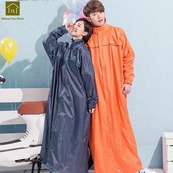 2044e376a15 Abrigo de lluvia largo al aire libre senderismo hombres Impermeable mujeres  chaquetas de lluvia Camping Pluie Regenmantel lluvia Poncho Impermeable  Hombre ...