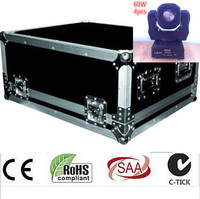 4pcs 60W DMX Stage Lights Flightcase LED Spot Moving Head Light USA Luminums 60W LED DJ