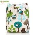 [Mumsbest] 10 unids bebé pañales de tela pañales con 10 insertos pañal reutilizable lavable impermeable traje 0-2 años 3-13 kg
