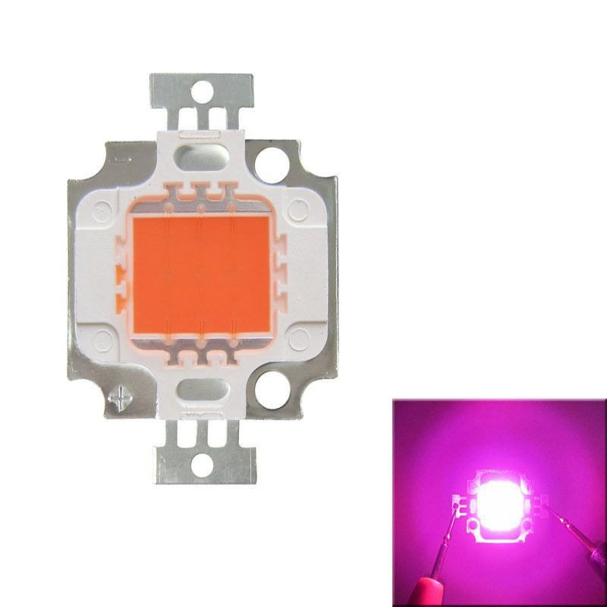 LED Chip Grow Light 10W Full Spectrum Pink Plant Lamp Diodes Growth Lighting For Garden Flowering Hydroponics System 9-12V 900mA