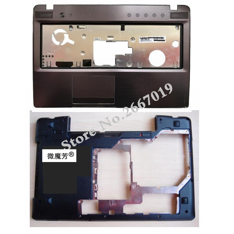 NEW Laptop Base Bottom Case D Cover For Lenovo FOR Ideapad Z570 Z575 Z570 Z570 Keyboard Bezel Palmrest Upper Case gzeele for lenovo for ideapad y570 y575 bottom base cover case new orig d cover case d shell cover laptop bottom case with hdmi