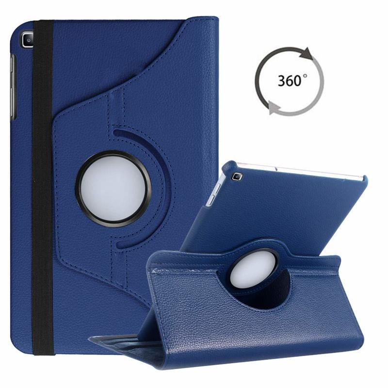 360 Rotating Case For Samsung Galaxy Tab A 10.1 2019 T510 T515 Flip Stand PU Leather Cover SM-T510 Wifi SM-T515 LTE Fundas Cases