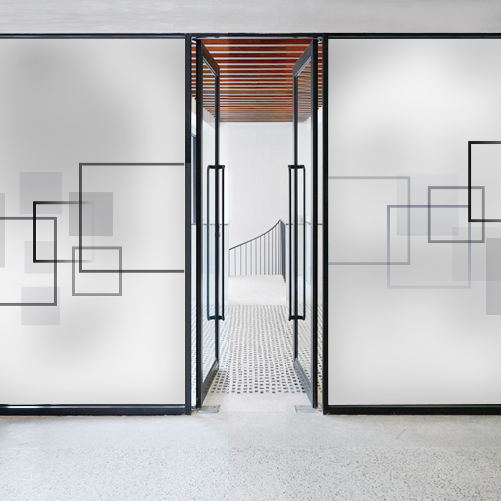 Abstract space geometry glass door and window sticker company partition glass stickers office meeting room electrostatic scrub