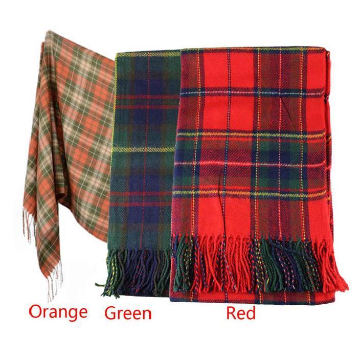 Fantastic New Women Winter Infinity Blanket Oversized Shawl Plaid Check font b Tartan b font Scarf