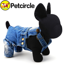 petcircle2016 direct selling pet dog cat clothes dog costume warm dog overalls winter denim jumpsuits for chihuahua freeshipping