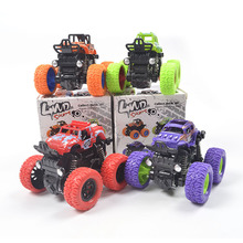 1PC Variety childrens four-wheel drive inertial off-road vehicle simulation stunt swing car toy climb over the wall