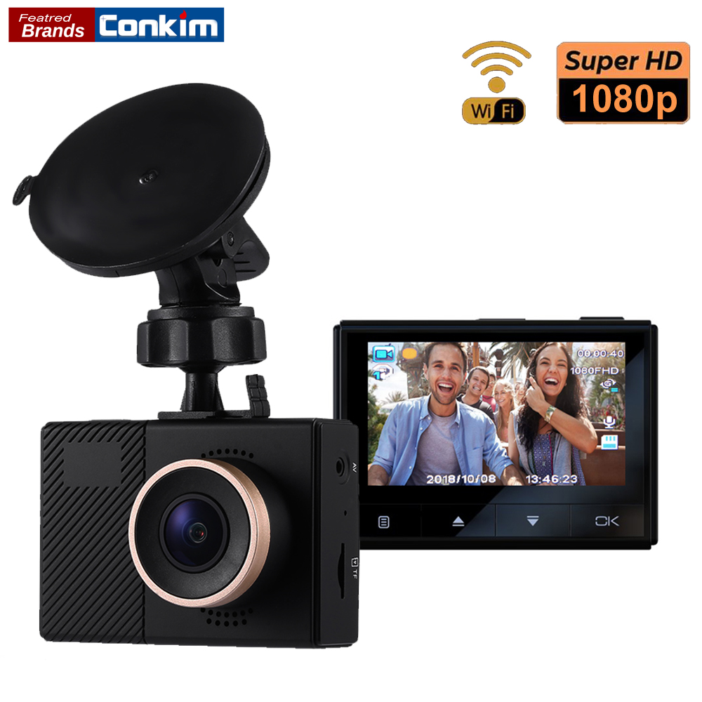 Conkim новые мини DVR регистраторы G70 + 1080P Full HD Автомобильная камера WIFI видеорегистратор Новатэк фишки 140 градусов Широкий формат Авто Видео Реги...