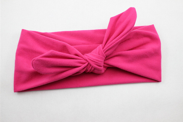 Baby Rabbit Headband Cotton Elastic Bowknot Hair Band Newborn Bow-knot Bow H4W6