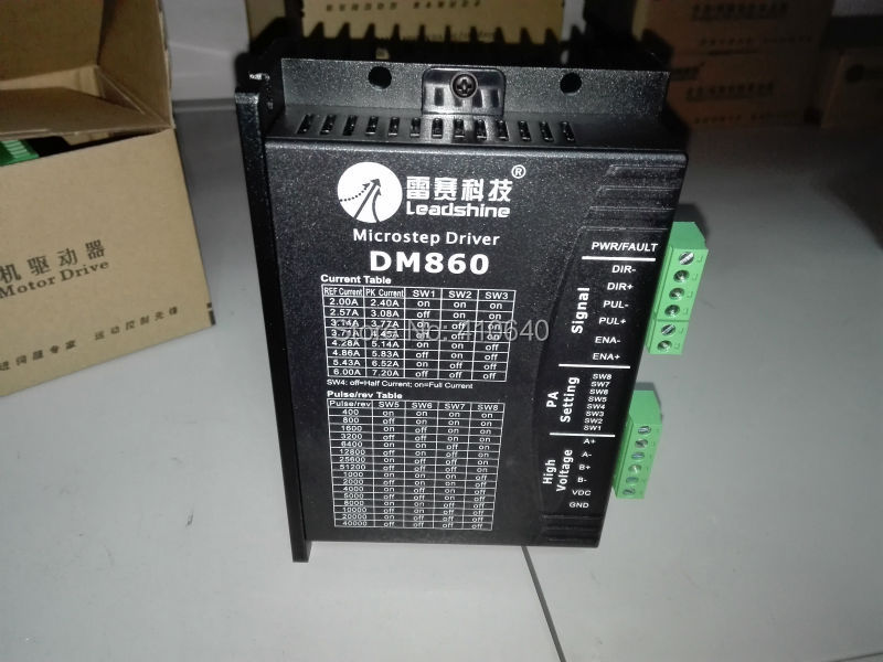 цена на GENUINE! Leadshine DM860 2-Phase 32-Bit DSP Digital Stepper Drive of 20 - 80 VDC Input Voltage and 2.4 - 7.2A Output Current