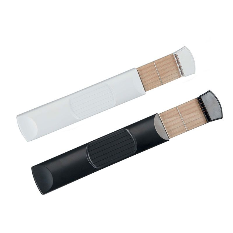 Pocket Acoustic Practice Tool Portable Fingerboard Travel Guitar 6 String 6 Fret Chord Trainer Conversion Trainer Practice Musical Instruments