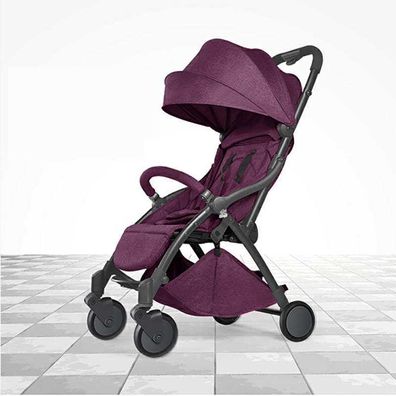2019 new baby stroller, light cart, small size, automatic fast delivery, easy to carry Russian free postage