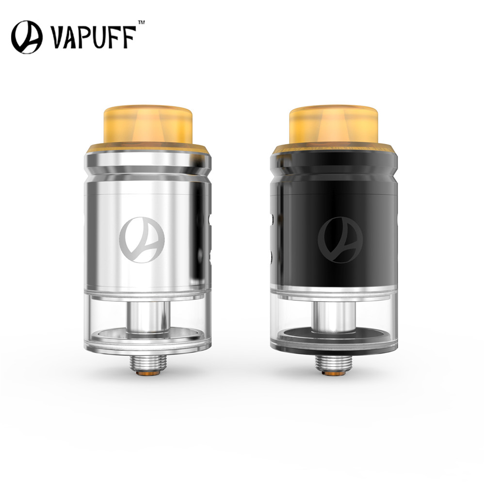 Electronic Cigarette Atomizer Tank Vapuff M24 RDTA 24mm Diameter 4.0ML Capacity Vaporizer Fit Drag 157W Box Mod VS Mesh Pro RDA