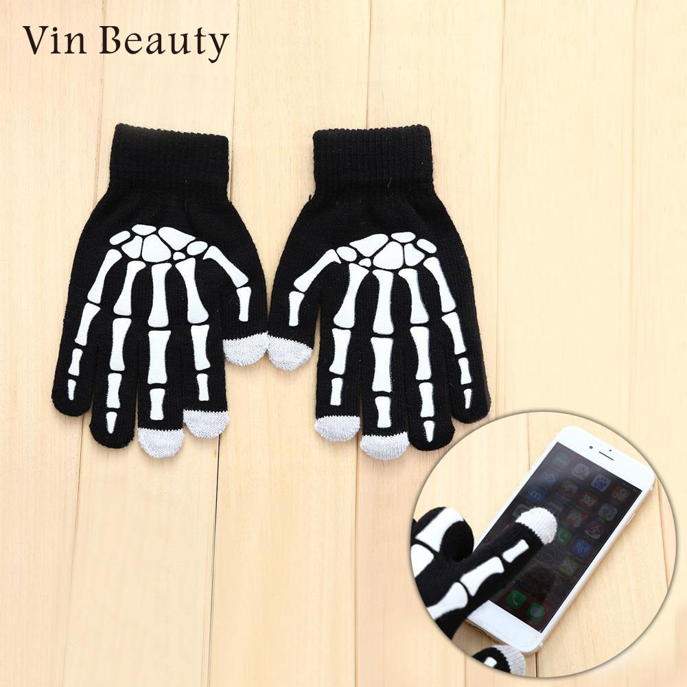 Paw Capacitance Gloves Boys Girls Unisex Finger Tip Touch Screen Noctilucence Cotton Black Gloves Cost