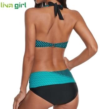 Liva girl Polka Dots Bikinis Set Sexy Swimsuit Push Up Brazilian Bikini Suits Female Swimming Bikini Maillot De Bain Plus Size 6
