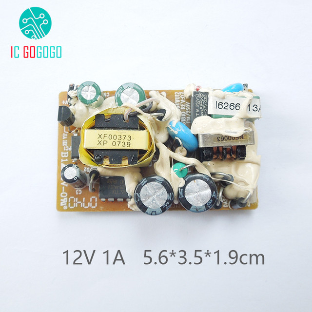 US $1 91 12% OFF|AC DC 12V 1A Switching Power Supply Module Switch Circuit  Bare Board For Cisco Monitor LED Stage Lights Power 1000MA 100 240V-in