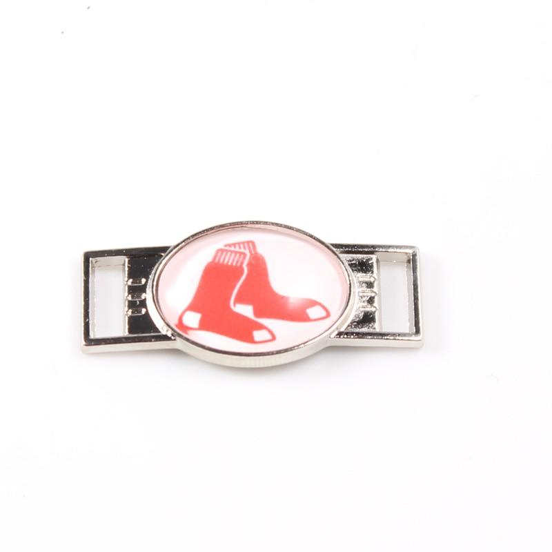 12Pcs BOSTON RED SOX Team Shoelace Charms Shoe Buckle For Sneakers Shoelaces Paracord Bracelets Decoration