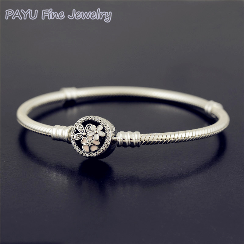 PAYU High Quality 925 Sterling Silver Poetic Blooms Bracelet Mixed Enamels Bracelets For Women Fine Jewelry